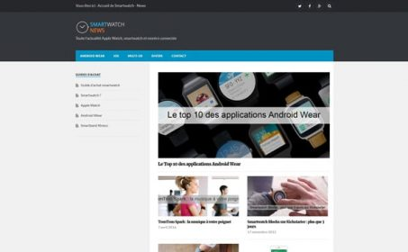 Aperçu du site Desktop Smartwatch News